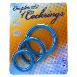 Set of Cockrings blue 35-40-50mm