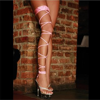 Electric Lingerie Twisted Leg Garter Strumpfband Pink